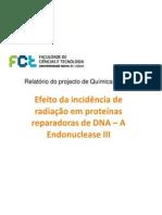 Estudo de efeito da radiação em enzimas de