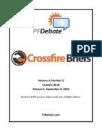 Crossfire Briefs PFDebate October 2010