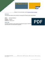 SAP Crystal Report on SAP ECC o R3