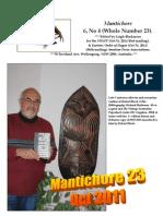 Mantichore 23, (Oct 2011)