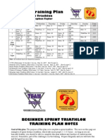 8 Week Sprint Tri Plan