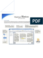 migrating from word 2003 to word 2010