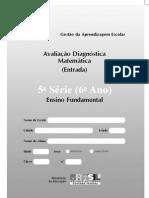 AVALIAÇÃO DIAGNÓSTICA - 6º ano