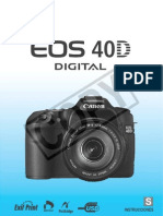 Canon Eos 40D - Manual