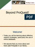 Beyond Proquest
