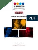 Resumen El Ser Creativo 2011