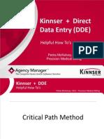Kinnser + Direct Data Entry (DDE)