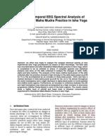EEG Spectral Analysis of Shambhavi Yoga Practice