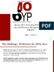 Special Education Redesign Plan