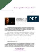 EDUCACIÓN PARA FORMAR SUJETOS ÉTICOS