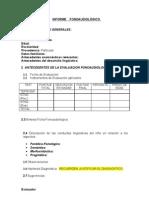 pauta informe fonoaudiologico