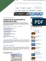 Configuração do Servidor DHCP no Windows Server 2003