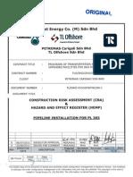 HSE - PSP CRA Pipeline Installation PL365 Rev 0 Approved
