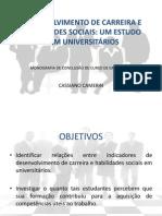 DESENVOLVIMENTO DE CARREIRA E HABILIDADES SOCIAIS