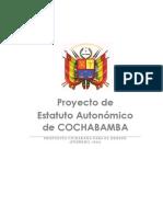 Proyecto Estatuto Autonómico Todos Por Cochabamba