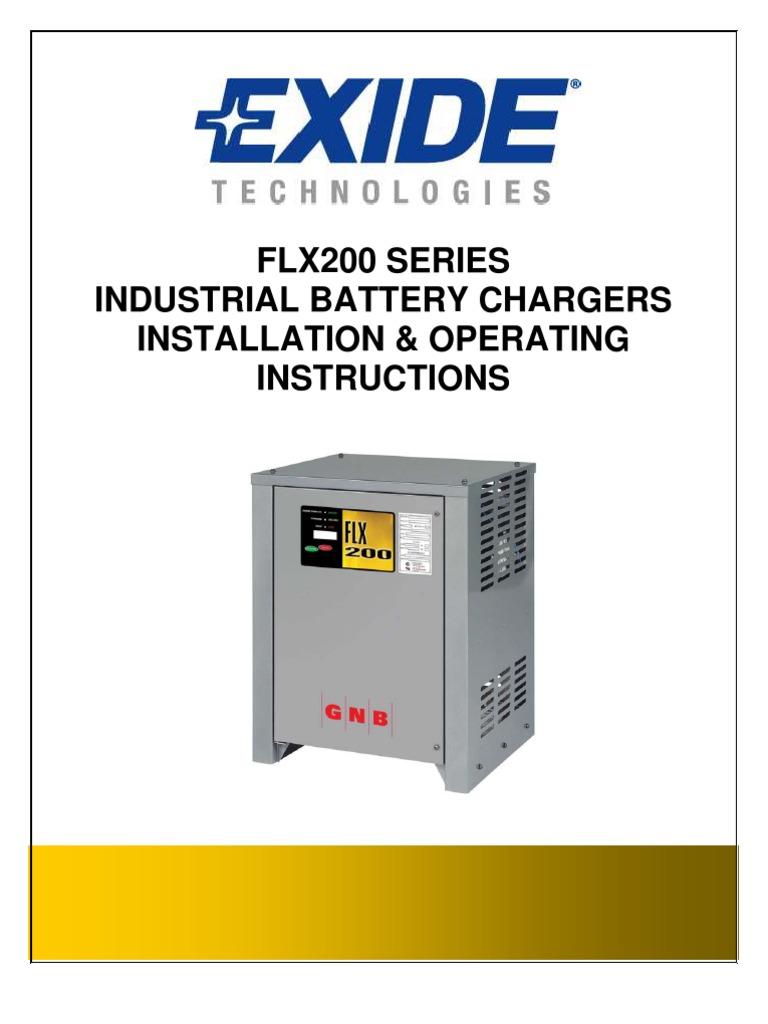 cargador gnb flx 200 battery charger mains electricity