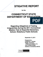 Waterbury CMT Investigative Report 9-13-11