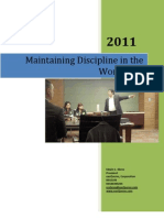 Ed Ebreo - Maintaining Discipline in the Workplace Workshop