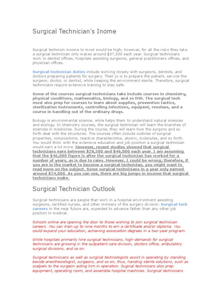 Surgical Technician Mistake Doc Surgery Health Sciences