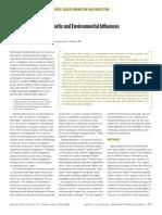Estructura genética e influencias ambientales del bienestar y salud mental