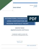 Modern Portfolio Diversification