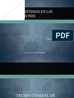 Sesion - Tres - Teoria de Sistemas en Las Organizaciones
