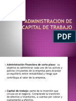 Admin is Trac Ion de Capital de Trabajo