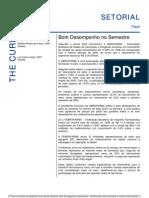 270706 - Relatório Setorial Farmacêutico - Bom Desempenho No Semestre