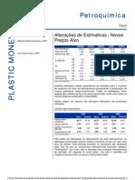 210706 - Relatório Setorial Petroquímico - Alterações de Estimativas - Novos Preços Alvo