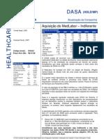 310706 - Flash News Medicina Diagnóstica - Dasa - Aquisição Do MedLabor - Indiferente