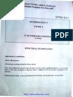 com TARC STPM Trial 2011 Maths T Paper 2