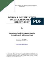 46842927 Design Construction of a Solar Powered Streetlight