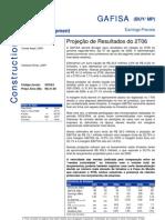 080806 - Flash News Construção - Gafisa - Projeção de Result a Dos Do 2T06