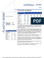 080806 - Flash News Petroquímica - Copesul - Outro Bom Dividendo