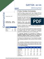 100806 - Flash News Construção - Gafisa - Fortes Vendas as