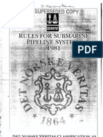 DNV 1981 - Rules for Submarine Pipelines