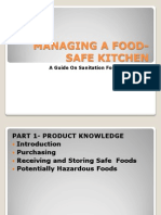 Managing a Food-safe Kitchen