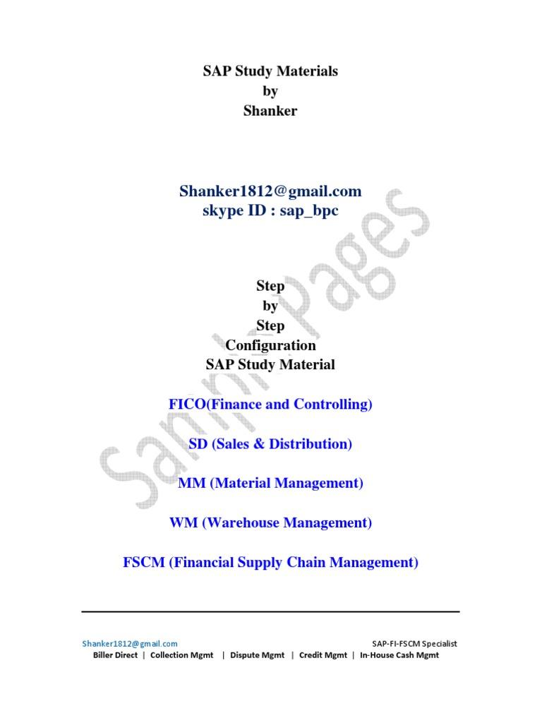 Sap fscm trm configuration material business economics technology fandeluxe Choice Image