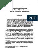 23 Trust Differences Between Men Women in Superior Subordinate Relationships