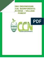 SAVING INDONESIAN TROPICAL RAINFORESTS