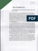 Morrissey Forgings Inc