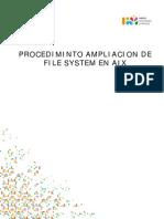 Ampliacion File System Aix