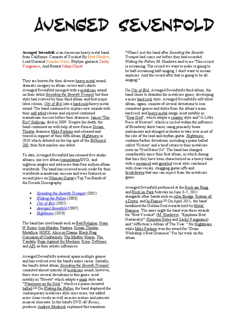Avenged Sevenfold | Soviet Union | International Politics