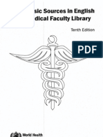WHO List of Basic Sources in English for a Medical Faculty Library