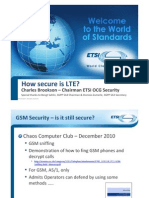 How Secure is LTE Presentation at ETSI Stand During MWC 2011