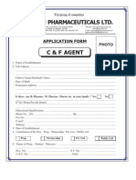 c & f Angent Application Form