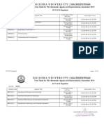 PGku I Semester Time Table (2011-2012 Regulation)