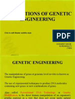 Genetic Engineer applications