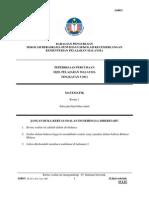Mathematics Paper 1 Trial Spm Sbp