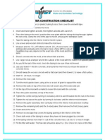 Appendices to Manual > L - Filter Construction Checklist